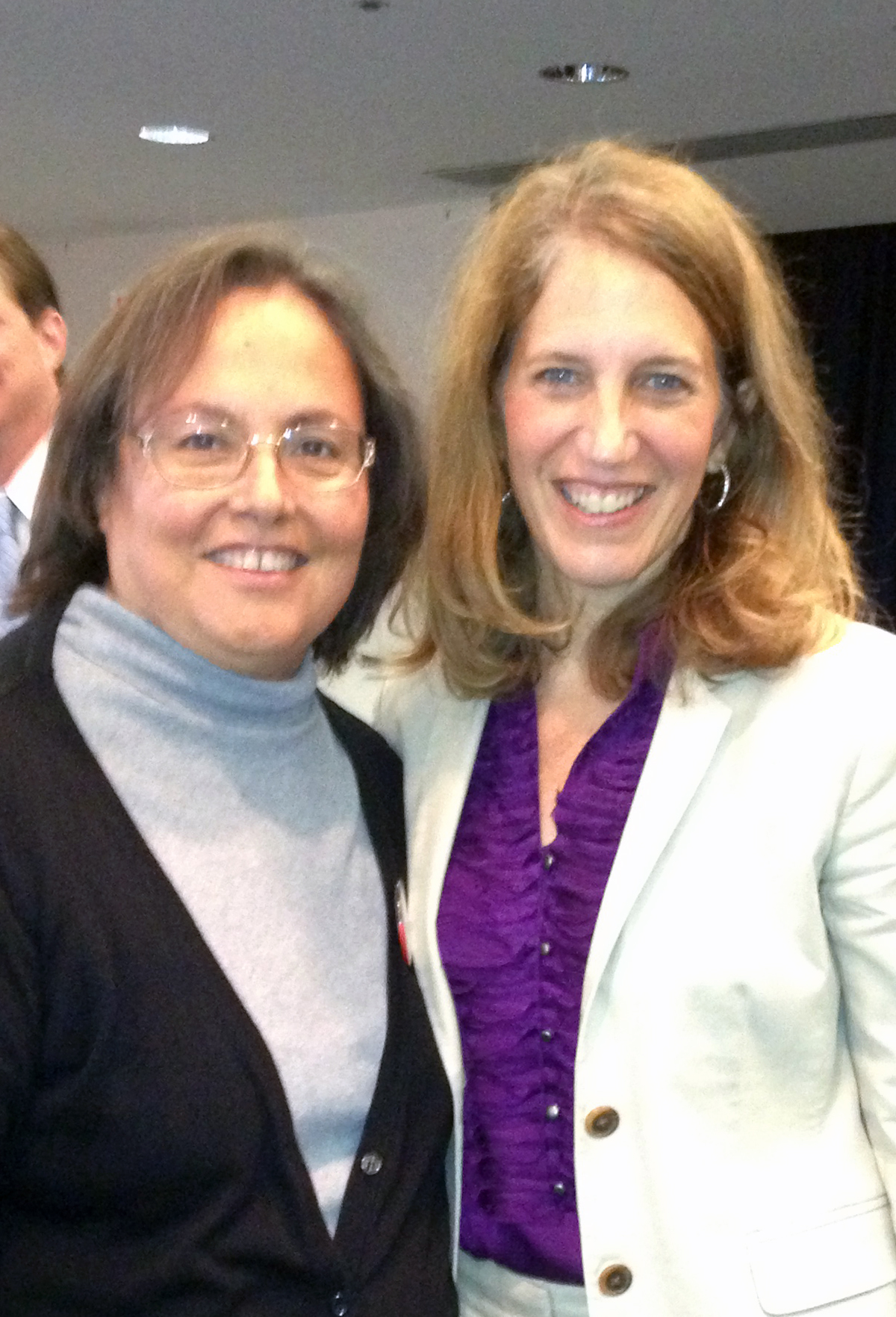 Cathy Abramson and Sylvia Burwell